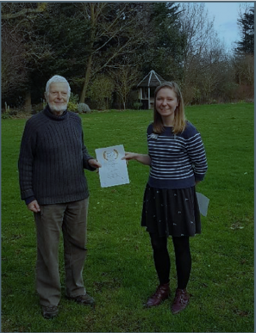 Our volunteer Brian Arbon receiving his certificate from our volunteer Coordinator Kelly Osborne. Photo: Essex Wildlife Trust.