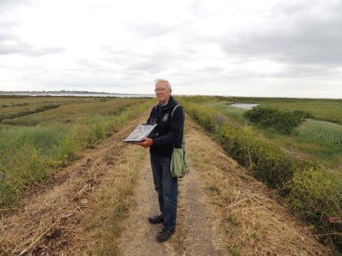 George Catchpole on a coastal survey