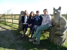 The LERC team. Left to right: Sarah Binnie; Lorna Shaw; Kate Hayward; Dana Knollova
